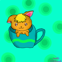 Tiki the Teacup Kitten :3 by Annie-epicjactations