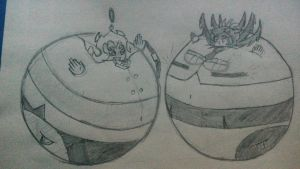 Scanty and Filia balloons by AngelOfInflation
