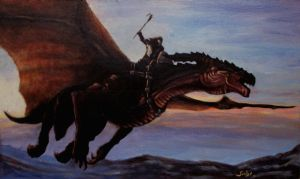 Dragon Rider by RedCrow-ART
