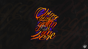 CHING CHING typography wallpaper pack by TraviiGFX