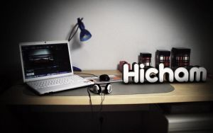 My own desktop with some 3D text. by Hichampro