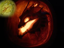 Dragon pumkin by Dragonlover92