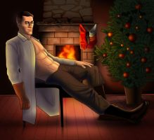 Near the fireplace by SargeCrys