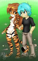 Twokinds : Flora and Trace by Flamy-Star