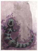 Salamander on Purple by dcwilson