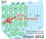 Otakon2012 Artist Alley Map by zelas
