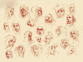 Faces sketch study 4 by SILENTJUSTICE