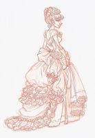 cinderella sketch by Seitou