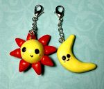 Sun and Moon Charms by JamSchlosser