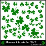 Shamrock GIMP Brush by HippieKender