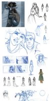 Quinnola Sketchdump 01 by travelingpantscg