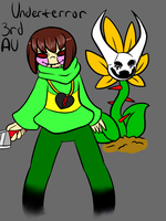 Chara and Flowey from my 3rd UT AU by ReneeIsdetermined