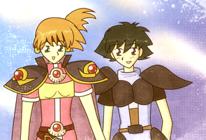 Slayers-verse Misty And Ash by Skiyomi