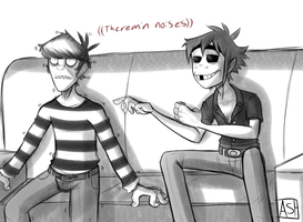 Theremin Noises - Gorillaz by Ashesfordayz