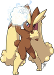 Lopunny Used Ice Punch by TamarinFrog