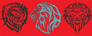 Tribal Lion Tattoo Design by davidshenoda