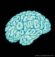 Zombie Need Brain by flyingmouse365