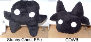 Pock Plush GhostEee Cow by gippentarp