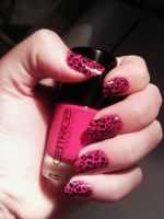 Pink Leopard Nails by sasxcha