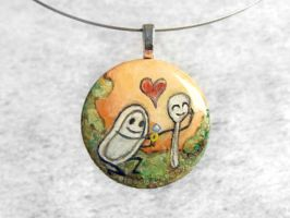 Dish LessThanThree Spoon Pendant / Sold by sobeyondthis