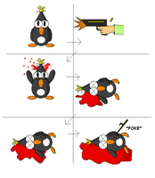 Mike the Unlucky Penguin #01 by MalusCalibur