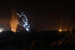 Abstract lightpainting I by Agulor