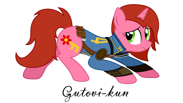 Commission - Fallout Equestria - Cherry Pin by Gutovi-kun