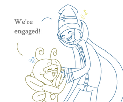 GUESS WHO'S ENGAGED? by Mini-Bacon-Lace