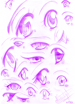 Eyes in anime by Nataly-B