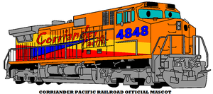Corriander Pacific Railroad Official Mascot by mcspyder1