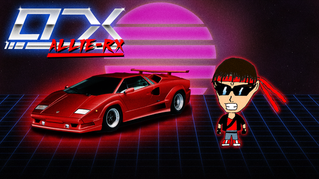 Allie-RX as Kung Fury (now with red Lamborghini) by AllieRX