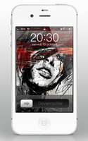 Lockscreen iphone4S by Laugend