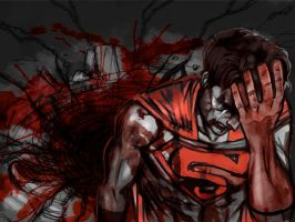 superman -killing fall by Oni-Geist