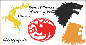 Game Of Thrones House Sigils by LiviaAlexandra