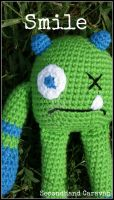 Sad Amigurumi Monster by SecondHandCaravan