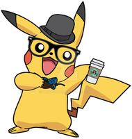 Hipster/Self Portrait Pikachu. by DrZurnPhD