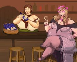Sharing Drinks by Quasikaotick