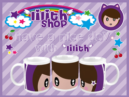 lilith's violet mug by lilithStyle