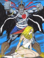 Mumm Ra and Cheetara COLORS by MichaelPowellArt