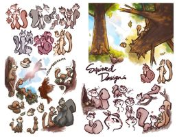 NUTS iPhone Game Character Concepts by peach-mork