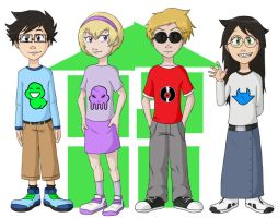 Homestuck Kids by demonoflight