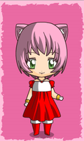 chibi amy rose human by queenlisa