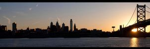 Sunset Over Philadelphia by nanshant