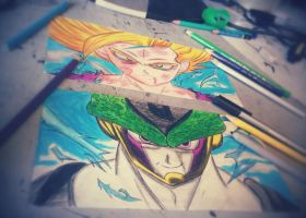 gohan vs cell by alenwn