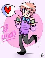 ARTHUR AND HIS CUPCAKES by akitokun1