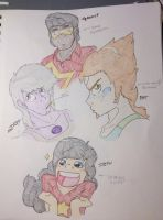 Steven Universe Gender Bender-Facial Expressions by SPARK-Theory