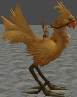 rikku on chocobo by twinlightownz