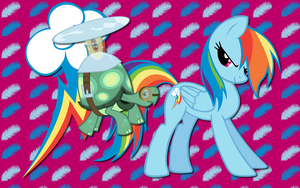 Rainbow Dash and Tank WP by AliceHumanSacrifice0
