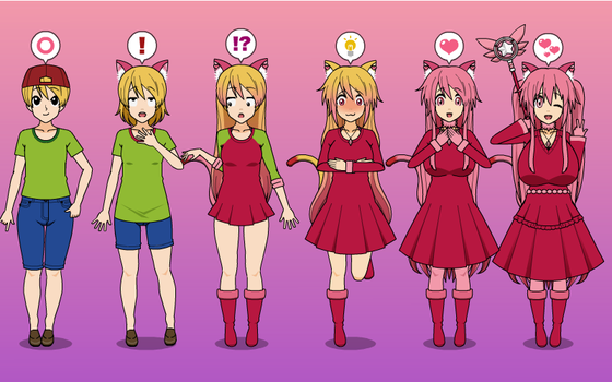 Nyeko Royalty! :3 Catgirl Princess TF TG Sequence by greenflame456