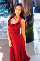 Annali - red dress under wharf 1 by wildplaces